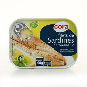 Cora Filets de sardines citron-basilic