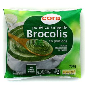 Cora pure de brocolis cuisine en portions 750g for Cuisine 750g