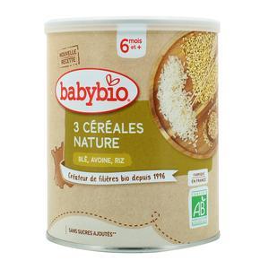 Babybio 3 Céréales Nature Blé Avoine Riz