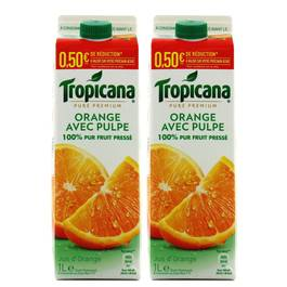 Tropicana Jus d'orange avec pulpe pure premium