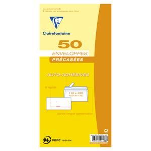 Clairefontaine 50 Enveloppes précasées auto-adhésives
