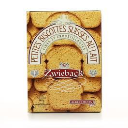Petites biscottes suisses au lait ,ALBERT MENES,165g