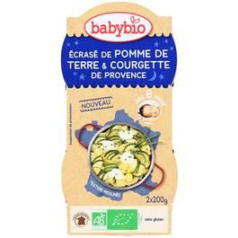 Babybio Ecrasé de pomme de terre et courgette de Provence Bio, dès 8 mois