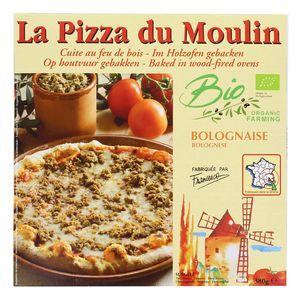 La Pizza du Moulin Pizza Bolognaise Bio cuite au feu de bois