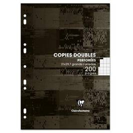 Clairefontaine Copies doubles 21 x 29,7 cm grands carreaux