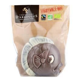 Chevalier D Argouges Poisson au chocolat au lait 37% de cacao bio
