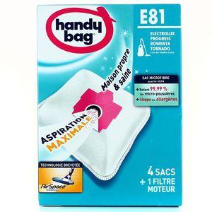 Handy Bag Sacs aspirateur E81- Tornado, Electrolux, Rowenta, Progress