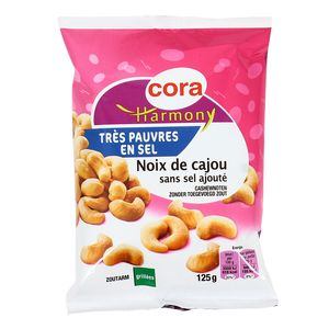 Cora noix de cajou grill es non sal es 125g - Noix de cajou grillees salees ...