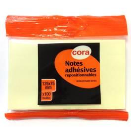 Cora Bloc de notes adhésives repositionnables