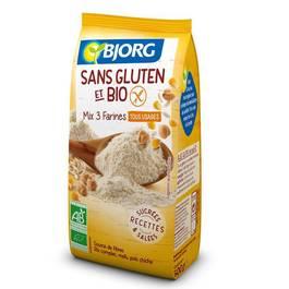 Bjorg Mix 3 farines tous usages bio sans gluten