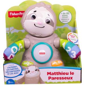 Fisher-Price Matthieu le paresseux Interactif- Linkimals- Ghy89