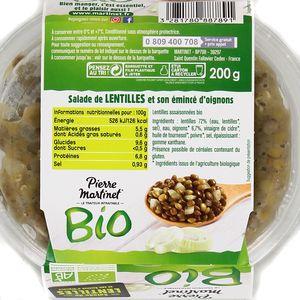 Martinet Salade de lentilles Bio
