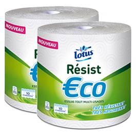 Lotus essuie tout resist eco bobine lot de 2 rouleaux - Papier bulle auchan ...