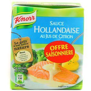 Sauce hollandaise au jus de citron,KNORR,30cl