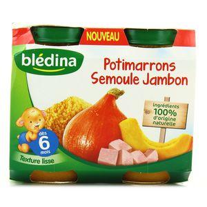 Blédina Potimarrons semoule jambon, dès 6 mois