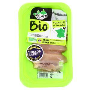 Nature De France Emincé cuisse de poulet Bio