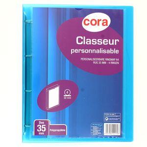 Cora Classeur souple dos 35 mm pour feuilles 21 x 29,7 cm personnalisable