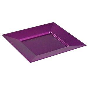 concept design assiettes carre nacres pourpre paillet 18x18cm 12 assiettes. Black Bedroom Furniture Sets. Home Design Ideas