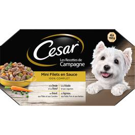 César Les recettes de campagne Mini Filets en sauce 100% complet