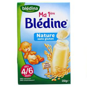 Blédina Ma 1ère blédine nature sans gluten dès 4/6 mois