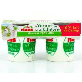 Rians le yaourt au lait de ch vre 2x120g - Yaourt maison lait de chevre ...