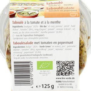 BioVerde Taboulé bio tomate menthe, végan