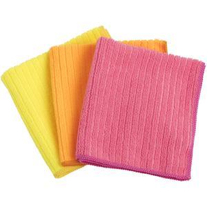 Elephant Lot de 3 lavettes microfibre