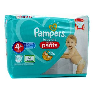 Pampers Babydry Nappy Pants Couches T4+