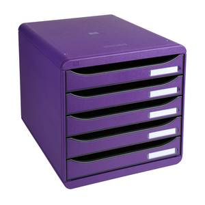 Exacompta Big box module de classement 5 tiroirs violet