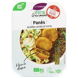 Végétal Gourmand de Pronatura Panés bio de lentilles vertes et curry, au lupin