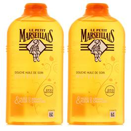 Le Petit Marseillais Douche huile de soin nourissante à l'argan & fleur d'oranger du Maroc