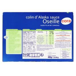 Cora 2 Colins d'Alaska sauce oseille qualité 100% filet 2x200g