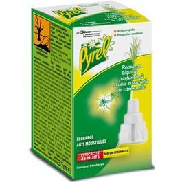 Recharge liquide anti moustiques parfum e l 39 huile essentielle de citronelle pyrel la recharge for Peinture anti moustique