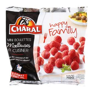 Charal Mini boulettes moelleuses au boeuf Happy Family 15% MG