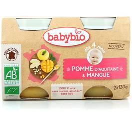 Babybio Pomme d'Aquitaine et Mangue bio, dès 4 mois