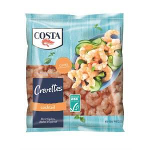 Costa Crevettes Cocktail ASC cuites décortiquées- 65 à 130 pièces