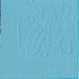 Serviettes papier 2 plis turquoise,LOTUS,