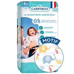 Carryboo Couches Ecologiques T4+ (9-20kg) - Non-irritantes Jumbo