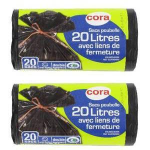 Cora Sacs poubelle 20L à liens classiques