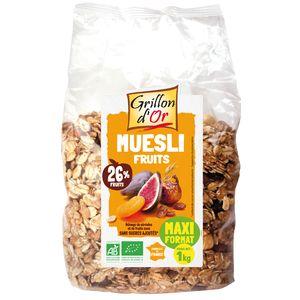 Grillon Or Muesli familial aux fruits, bio