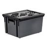 3086960100155 - Eda - Bac de rangement gris avec couvercle 20 litres