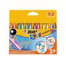 3086124000789 - Bic - Craies de cire pour le coloriage plasticolor