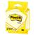 Post-it Bloc de notes adhésives jaunes 7,6 x 7,6 cm