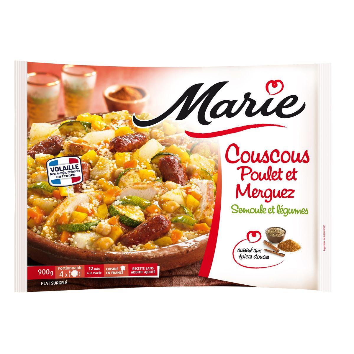 Marie Couscous Poulet Merguez Semoule Et Legumes Cuisine Aux Epices