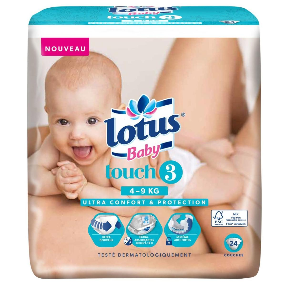 Lotus Baby Couches T3 49 Kg 24 Couches Hourafr