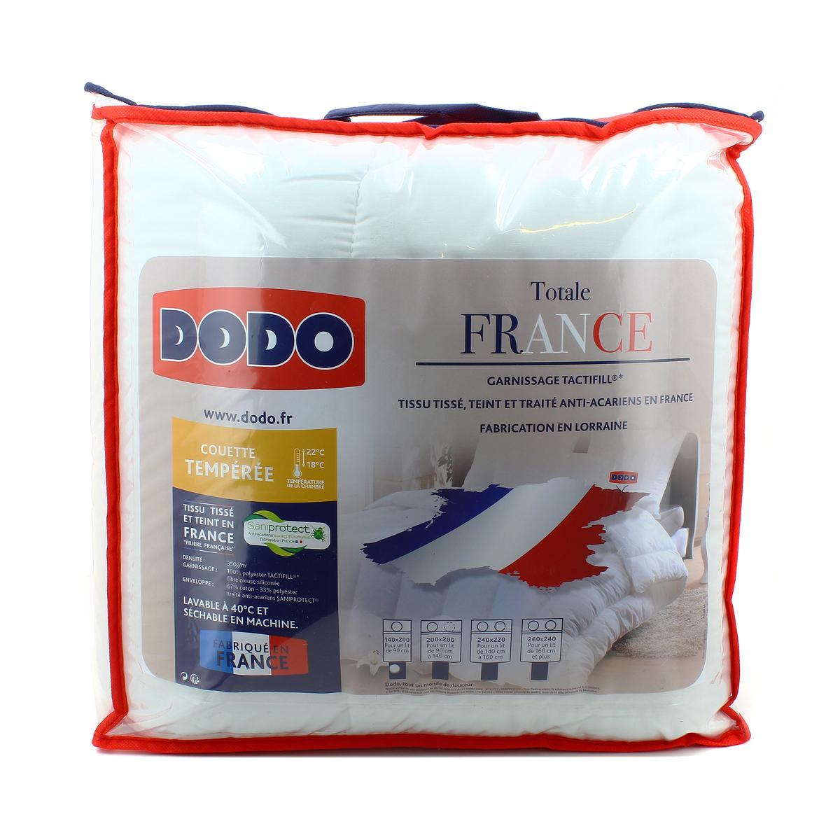 93247de131f0 Dodo Couette tempérée 350gr m² anti-acariens TOTALE FRANCE, 140 x ...