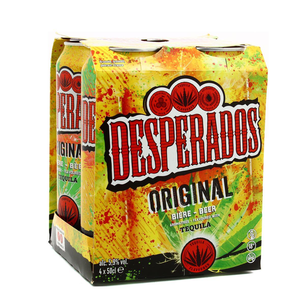 Livraison A Domicile Desperados Biere Aromatisee A La Tequila 4x50cl
