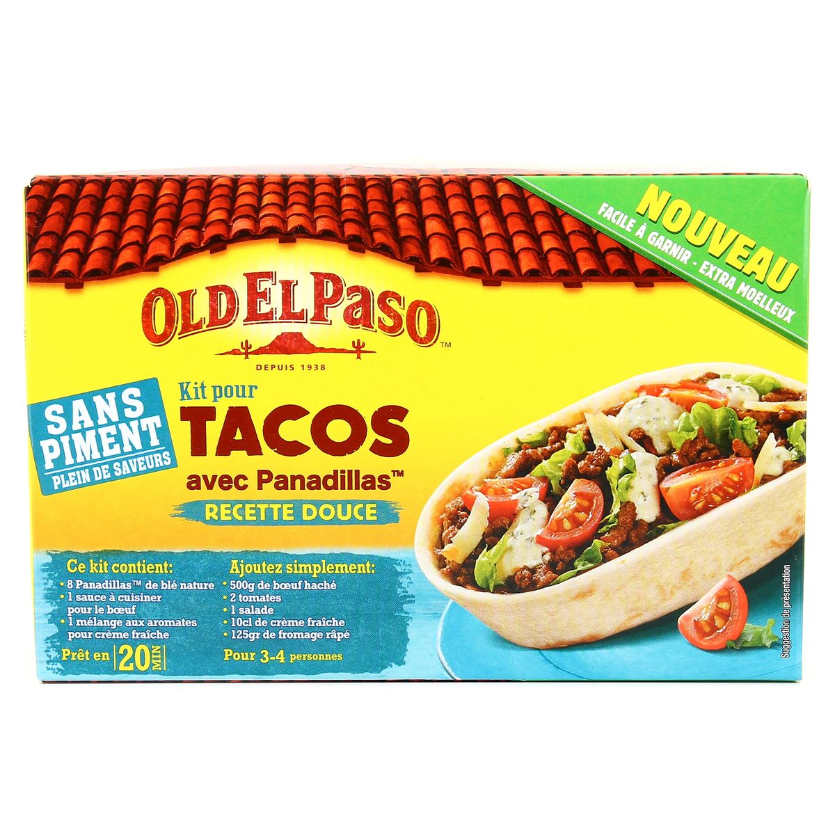 old el paso kit pour tacos avec panadillas 329g. Black Bedroom Furniture Sets. Home Design Ideas