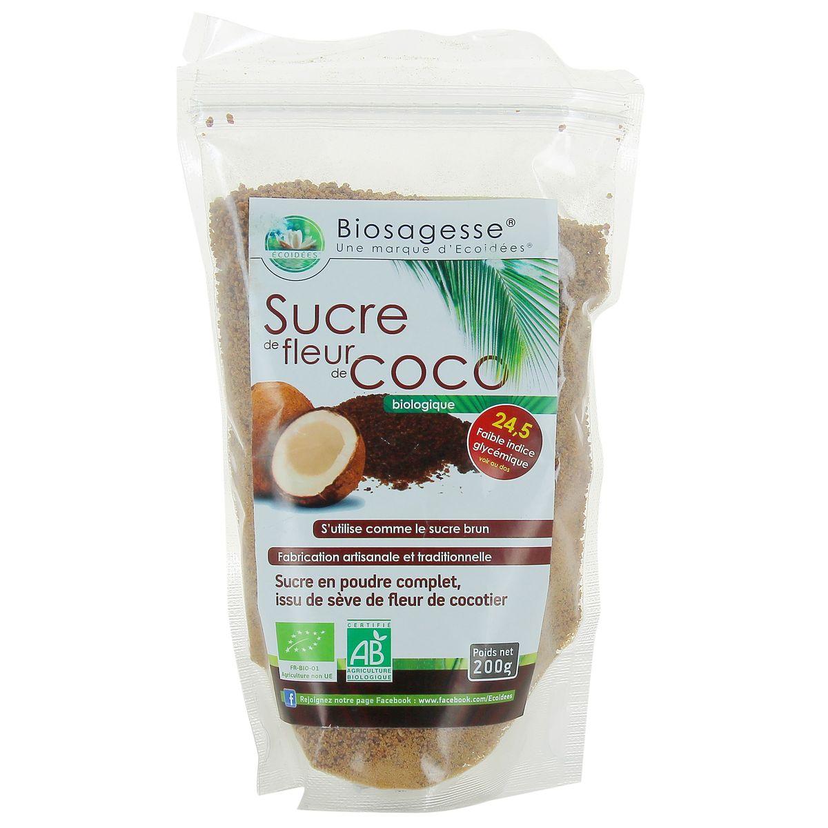 Biosagesse Sucre De Fleur De Coco Bio 200g