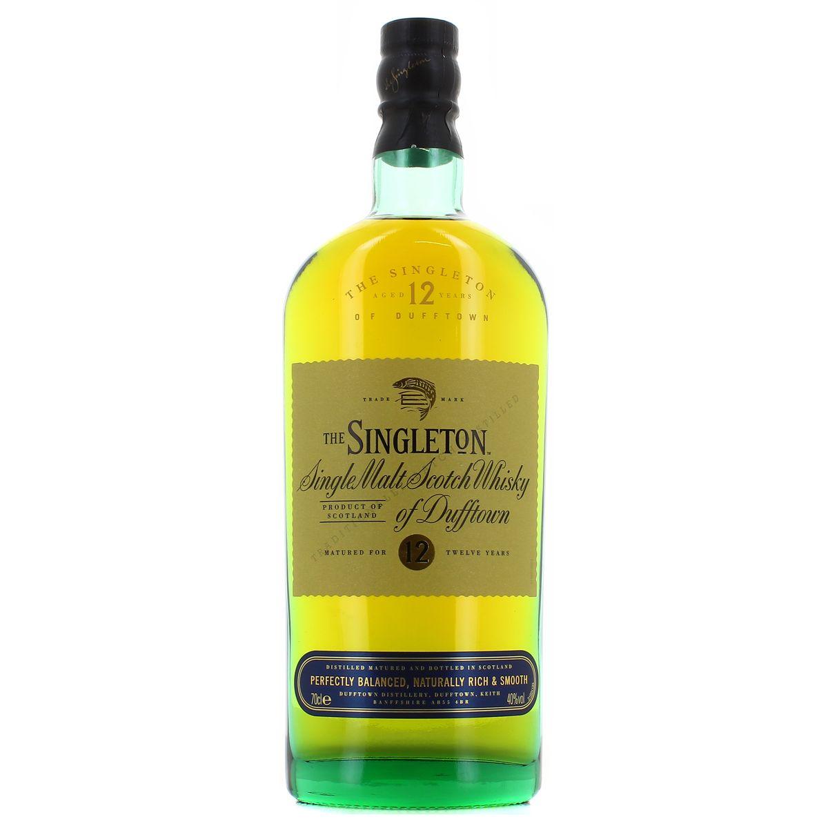 cea0f4eef8cf The Singleton Single malt scotch whisky 12 ans 40°, 70cl : houra.fr